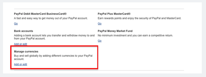 paypal how to add currency