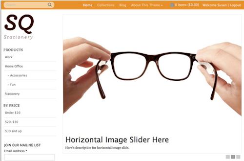 Online business orange template