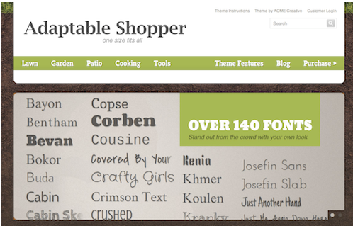 Online sales green template