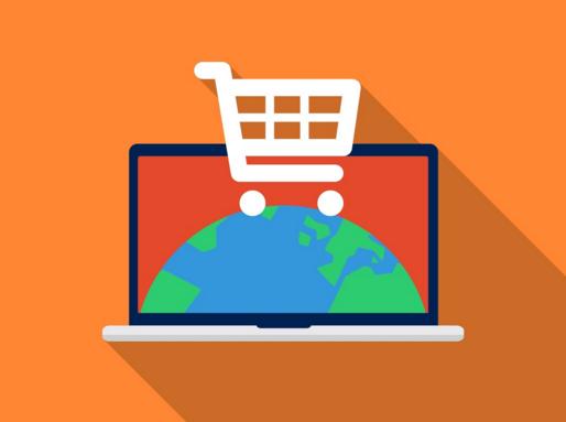 Online-Sales-Globe-Cart